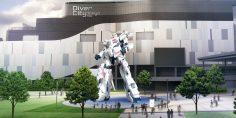 La statua di Mobile Suits Gundam Unicorn è interattiva