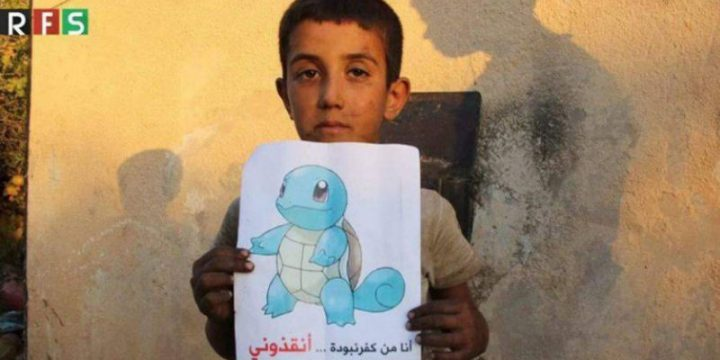 "#PokemonInSyria: ""Trovateci e venite a salvarci"""