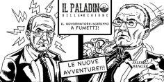 De Luca il governatore SCERIFFO diventa un fumetto