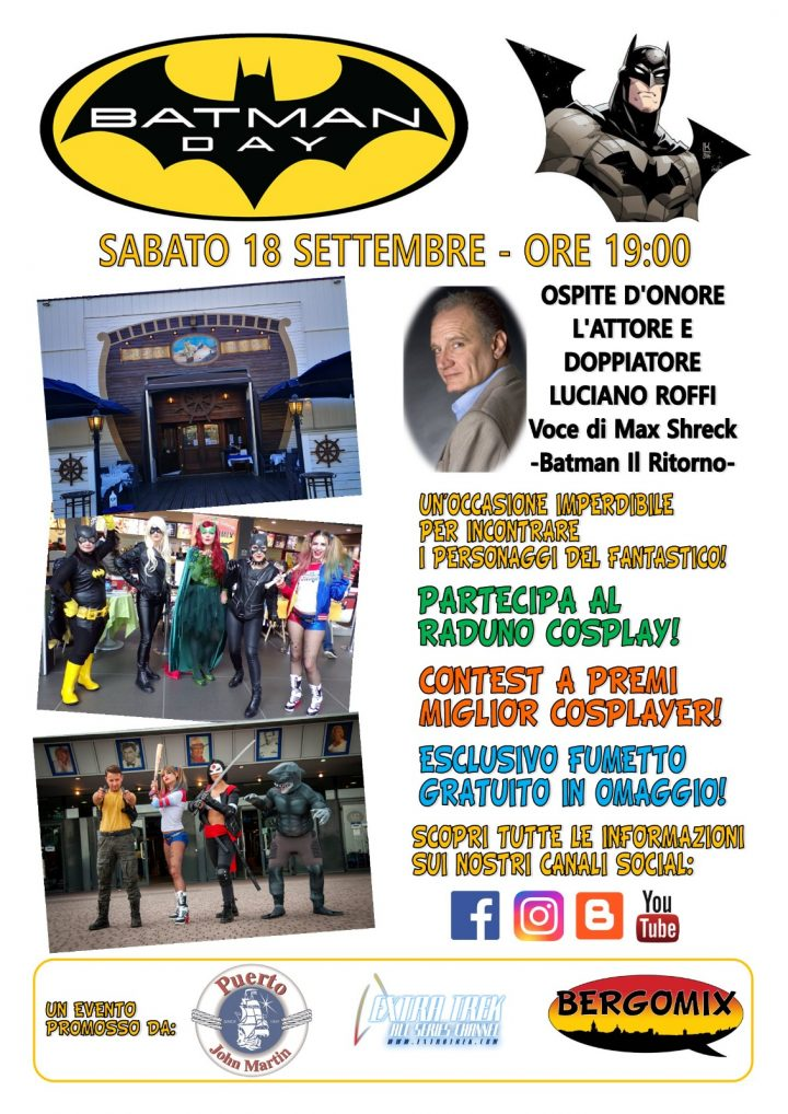 Batman Day: Bergamo festeggia il Cavaliere Oscuro