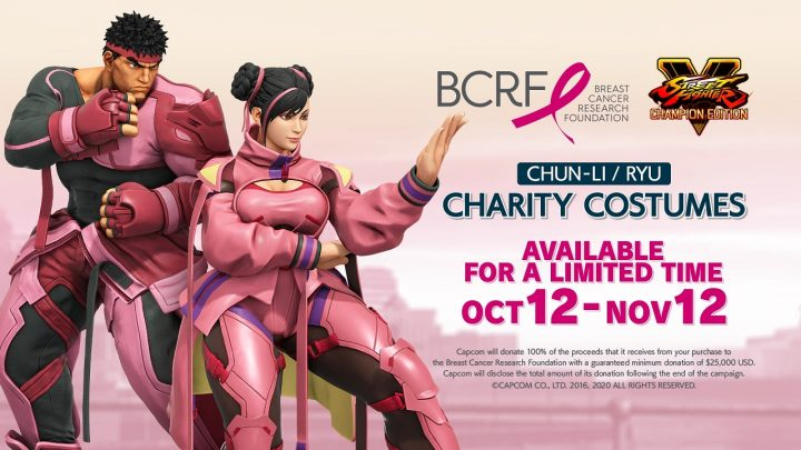 Street Fighter V per Breast Cancer Research Foundation