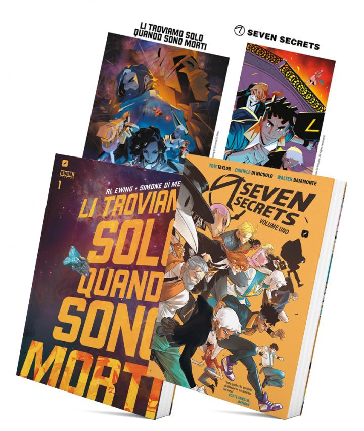 Edizioni BD presenta il BOOM!BASTIC Bundle di Li troviamo solo quando sono morti & Seven Secrets!