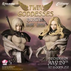 Figurama Claymore Elite Bust: Clare e Teresa Twin Goddesses
