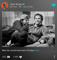 Hallelujah: Il tributo di Zack Snyder alla figlia