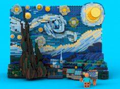 La notte stellata si fa LEGO