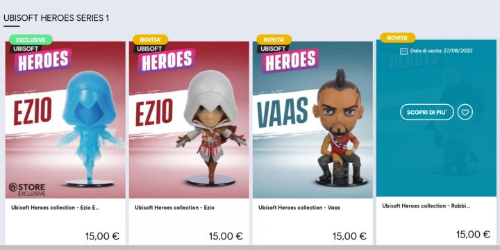 Ubisoft Heroes disponibili su Ubisoft Store