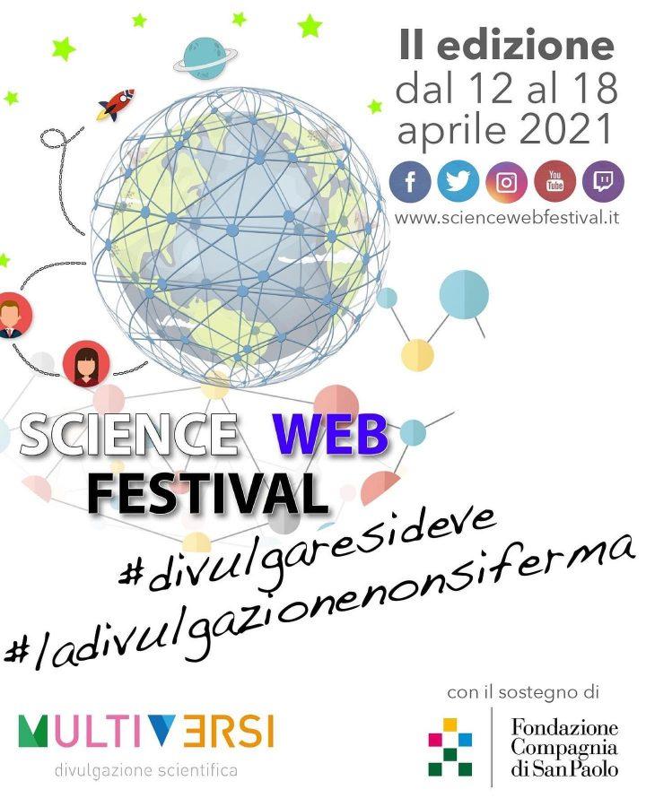 Science Web Festival, dal 12 al 18 aprile 2021